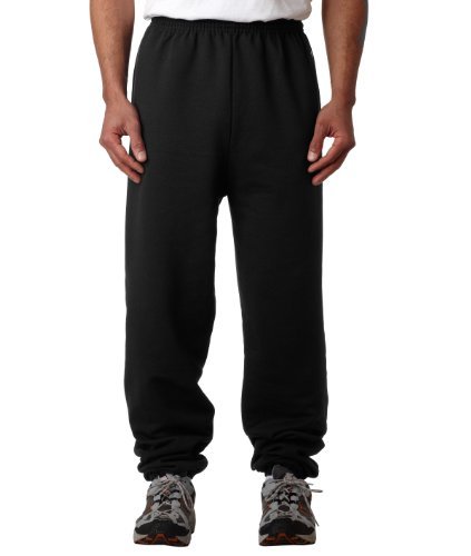 Champion Mens Double Dry Eco Fleece Pant, Black Black