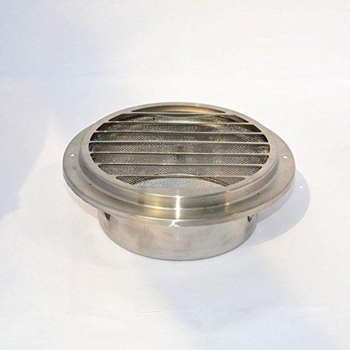 zantec rund Edelstahl Lüftungsgitter Metall Belüftung mit Belüftungsschlitzen, Außenwand Gap, 120 mm