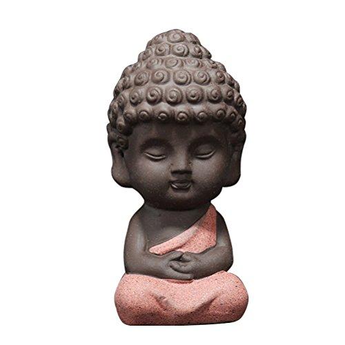 Vosarea Estatua Buda Pequeña Escultura Tallada Mano