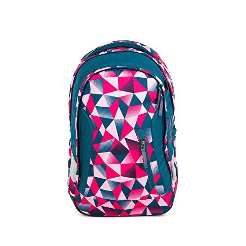 Satch Sleek Pink Crush, ergonomischer Schulrucksack, 24 Liter, extra schlank, Pink