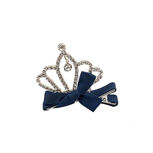 Haarklammern Crystal Crown Baby Kinder Mädchen Kinder glänzend Prinzessin Hasenohren Haarspange (E)