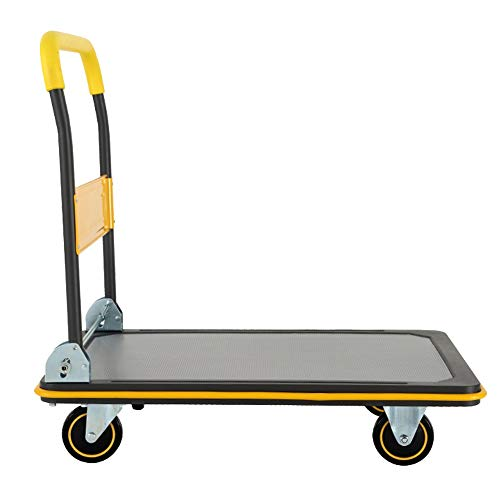 Küchenwagen Faltbarer Handwagen, Maximal tragende 300KG Faltender Handwagen kann Einkaufen, Geschäftsreisen, Frachtumschlag, Gepäck mehr.