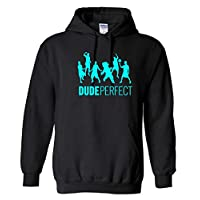 VinylStudio Dude Perfect 2 Kids Hoodie 80% Cotton / 20% Polyester (Black, Years 12-13)