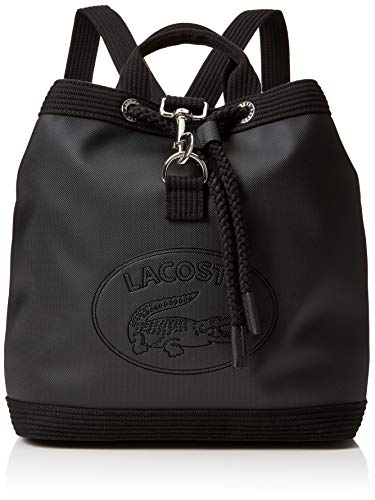 Lacoste Damen Nf2629wm Rucksack, Schwarz Black, 13x29x28 Centimeters
