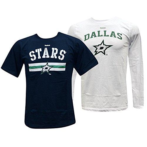 Dallas Stars CCM Jugend Hat Trick T-Shirt Combo Pack (M)
