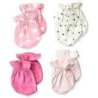 4 أزواج من القفازات للفتيات الرضع من جربر Fox 0 - 3 اشهر