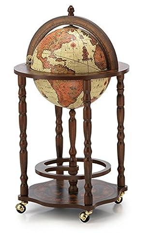 Mappemonde Globe terrestre safari bar sur roulette reproduction vintage meuble steampunk
