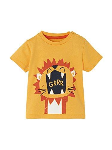 Vertbaudet Jungen Baby T-Shirt, Löwe Sonnengelb 62 - Lowe Shirt