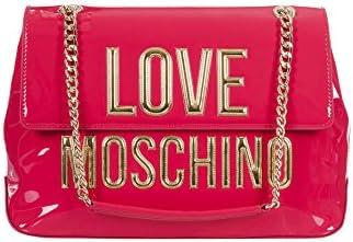 Love Moschino - Bolso de asas de cuero sintético para mujer fucsia