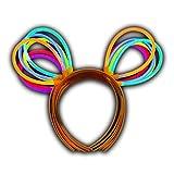 50 Knicklichter Haarreifen - Leuchthaarreifen Set (50 Leuchthaarreifen) - Leuchtender Hut - Bunny Ohren - Maus Ohren