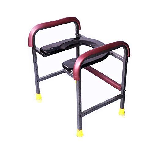 GYJ Toilettenstuhl für WC/Nacht mit Armen Handicap und Senioren Gepolsterte Behinderte Gewicht Kapazität Sitzhöhe einstellbar Stand allein -