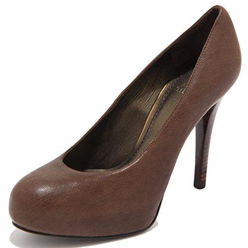 decollete STUART WEITZMAN scarpa donna shoes women 25939 Marrone