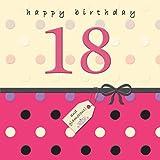 Twizler 18th Tarjeta de cumpleaños para Her con cristal acabado–18años de edad–18años de edad tarjeta de cumpleaños