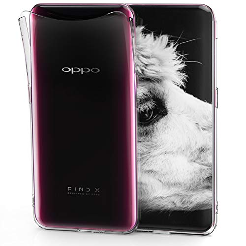 kwmobile Oppo Find X Hülle - Handyhülle für Oppo Find X - Handy Case in Transparent