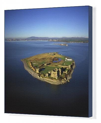canvas-print-of-aerial-image-of-piel-castle-fouldry-castle-fouldrey-castle-a-concentric
