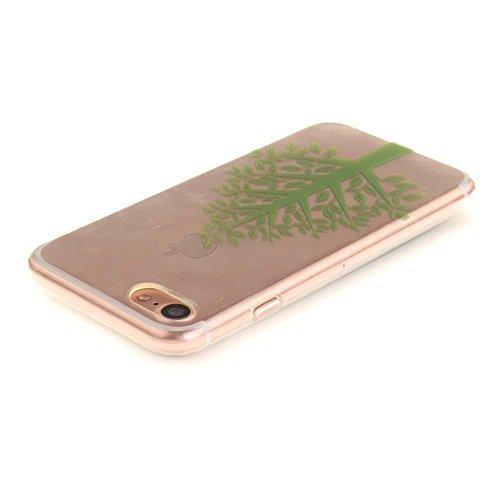 """Coque Case pour Apple iPhone 7 4.7"""" Délicat Dessin Mandala Noir Ultra Fine Transparente Souple TPU Gel Couleur10"""