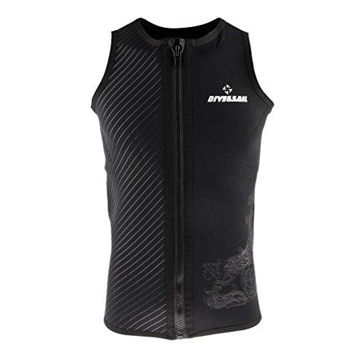Backbayia 3mm Neopren-Jacke Tauchen Apnoe Sport Wassersport Tauchen Sicherheitsweste Unterwasser Jacke Kombination für Herren, M