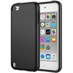 MoKo iPod Touch 2019 7/6 / 5, Coque de Protection Robuste Pare-Chocs TPU Doublé Protection avec Couvercle Arrière Étui Housse pour Apple iPod Touch de 7ème / 6ème / 5ème Génération, Noir