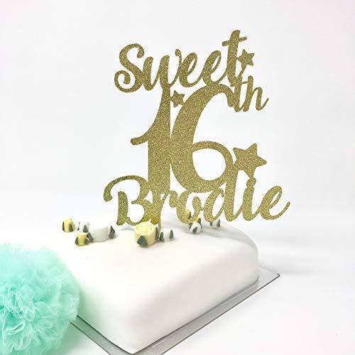 Kuchendekoration zum 16. Geburtstag mit Namen Sweet Sixteenth Party Ideas. Tortenaufsatz