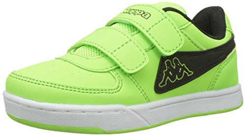 Kappa Trooper Light Ice, Scarpe da Ginnastica Basse Unisex-Bambini, Verde (Green/Black 3011), 35 EU