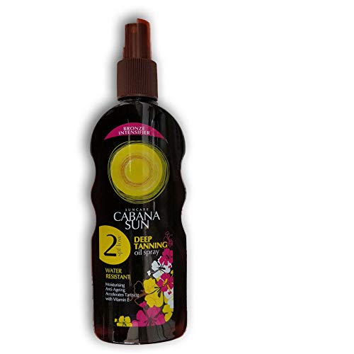 Cabana Sun Deep Tan Tanning Oil Spray SPF2 Low 200ml -