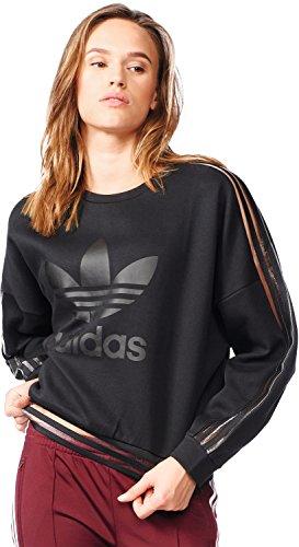Adidas Sweatshirt Felpa, Donna, Donna, Sweatshirt, nero, 48