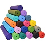 Unique Decor Extra Thick High Density Yoga mat with Upgraded Non-Slip Material, Eco Friendly Exercise & Workout Floor Exercises Mat with Anti-Tear Exercise (Size-24 X 72 inch) 4mm Thick Color-Multi