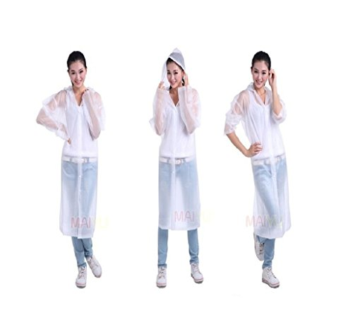 Krystle Transparent Women's Raincoat (Large)
