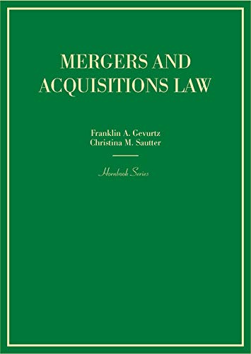 Mergers and Acquisitions Law (Hornbooks) (English Edition)