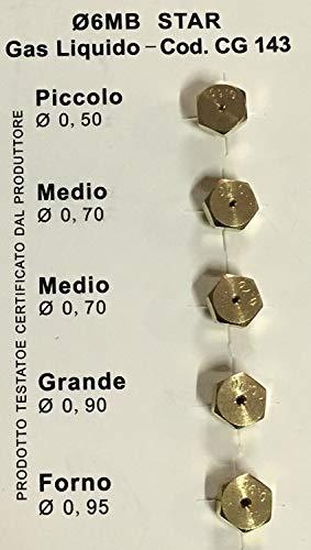 Inyectores de GLP universales (6 mm de diámetro, 6Mb, tipo cilindro de...