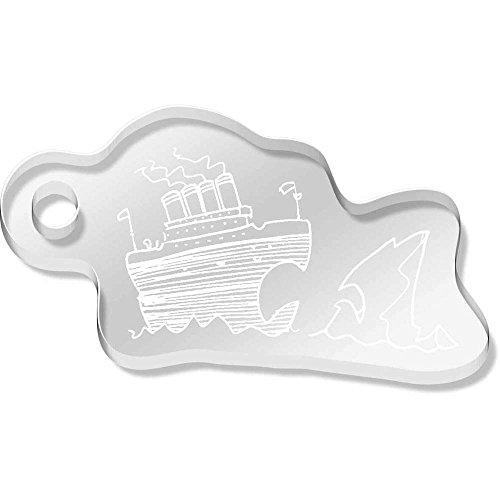 Azeeda 'Titanic & Iceberg' Shaped Engraved Keyring (AK00051781)