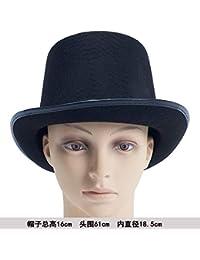 3e4e5bdc3808b Sunbohljfjh Accesorios de Halloween Sombrero mágico Sombrero Mago Sombrero  Sombrero de Copa Sombrero de Jazz 16   18.5   61cm
