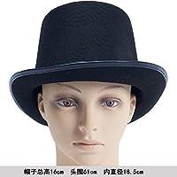 Sunbohljfjh Accesorios de Halloween Sombrero mágico Sombrero Mago Sombrero Sombrero de Copa Sombrero de Jazz 16 * 18.5 * 61cm