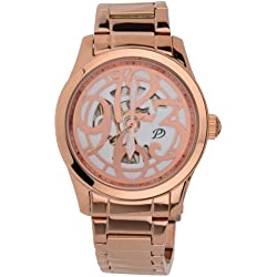 Pendule Ladies Stylish Automatic Watch with 14ct Rose Gold Plated Bracelet Strap