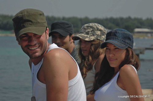 UNIFORM DENIM Berretto ARMY Cappello MILITARE CAP CHAPEAUX 100% COTONE  UNISEX d69b893b4155