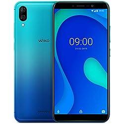 Wiko Y80 Smartphone débloqué 4G (Ecran 5, 99 Pouces - 16 Go - Micro-SIM/Nano-SIM + Emplacement Micro SD pour mémoire Extensible jusqu'à 128Go) Bleen