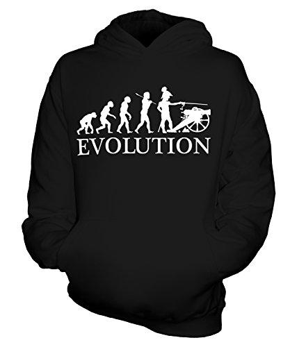 rieg Amerikanischer Bürgerkrieg Evolution Des Menschen Unisex Kinder Jungen/Mädchen Kapuzenpullover, Größe 3-4 Jahre, Farbe Schwarz (Bürgerkrieg Mädchen)