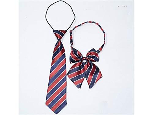 JxucTo Skinny Krawatte Woven Mikrofaser Krawatte für Jungen Kinder (rot und blau)