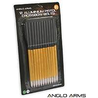 Anglo Arms Lot de 24 carreaux d'arbalète en aluminium 16,5cm