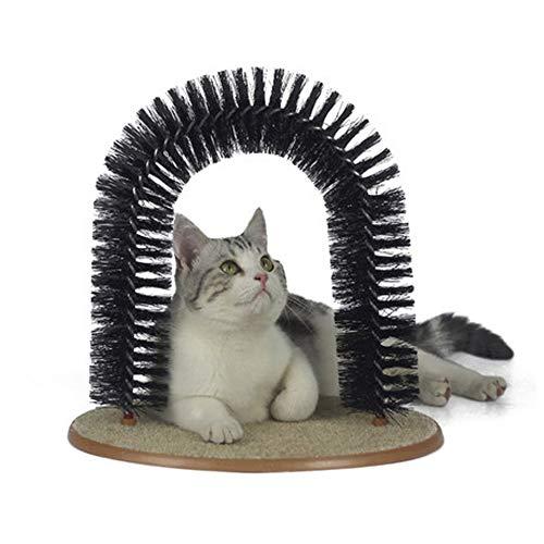 YUEWO Katzen-Borsten, Kratzbaum und Fellpflege, mit Katzenminze, Keine Haarbälle mehr, sanftes...