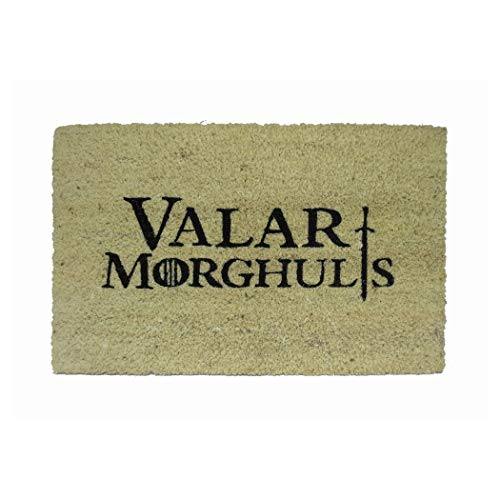 koko doormats Felpudo Valar Morghulis, PVC, Coco, 40 x 60 cm
