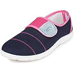 Trv Women's Pink Canvas Sport Shoes - 8 Uk