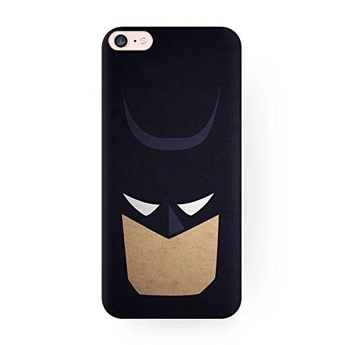 Peachy Baby - Cover Morbida per iPhone 6/6S, Motivo: Batman, Marvel, Animate, Cartoni Animati, Ironman, Thor, Superman, Colore: Nero