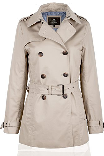 F08 Damen Trenchcoat Kurzmantel