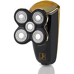 Hombre Afeitadora Barba Trimmer,EléCtrico 2 En 1 MáQuina Afeitar Rotativa 5 Cabezal USB Recargable En Mojado Y Seco MúLtiples Funciones Hmhope