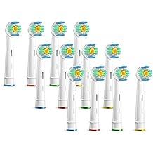 12 pzs. (3x4) 3D White cabezales para cepillos, compatibles con los mangos de cepillos de diente electrónicos de Oral-B. Substitutos para el EB18. Completamente compatibles con Oral-B Black, Deep Sweep, SmartSeries, ProSeries, Triumph, Advance Power, ProfessionalCare, ProfessionalCare SmartSeries, Vitality Floss Action, Vitality Dual Clean, Vitality CrossAction, Vitality Precision Clean, Vitality Pro White, Vitality Sensitive, Vitality TriZone. Sustitutos de ORAX® PearlClean.
