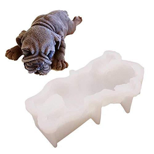 Molde para Hornear Pastel de Perro 3D Moldes de Silicona Animal Moldes...