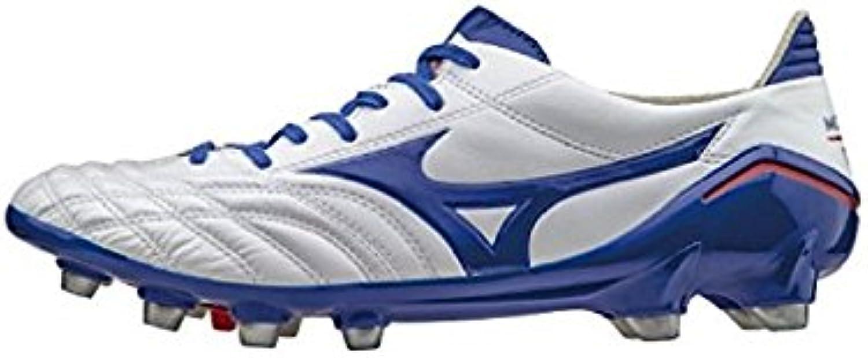 Mizuno - Botas de fútbol de Piel para hombre blanco Bianco