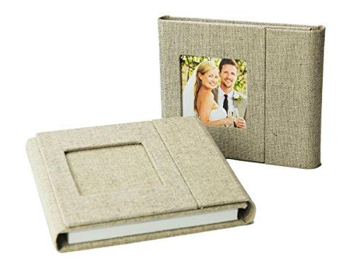 Hochzeit-dvd-hülle (Hochzeit DVD/USB-Case mit Bildfenster. Leinenstoff Grau.)