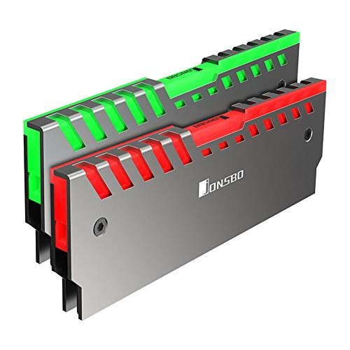 Memory Cooling Kit (YouN NC-2 2er Memory Cooling Weste Aura Control Farbe RGB RAM Kühlkörper)